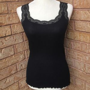 Banana Republic NWOT Black Lace Tank Top